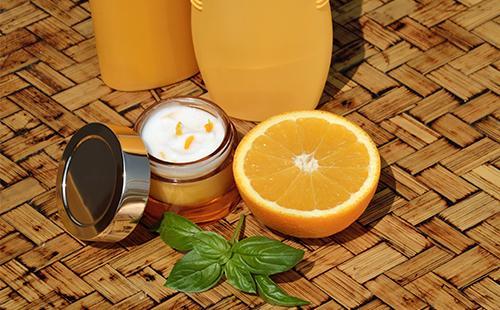 Крем с кусочками апельсина